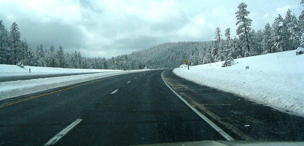 I-17 ice melting