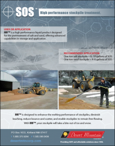 SOS-Deicing SOS Liquid Stockpile Treatment